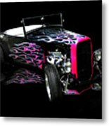 Flaming Hot Roadster  Metal Print