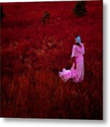 Flaming Pink Metal Print