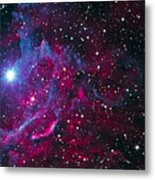 Flaming Star Nebula Metal Print