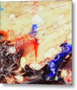 Flaming Torch Metal Print
