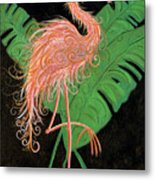Flamingo Art Deco  Metal Print