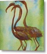 Flamingos In Vail Metal Print