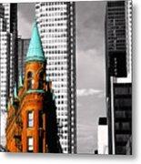 Flat Iron Building Toronto Metal Print