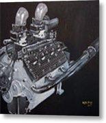 Flathead Offenhauser V8 Metal Print