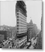 Flatiron Building During Construction Metal Print