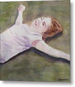 Floating On The Lawn Metal Print