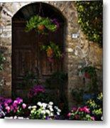 Floral Adorned Doorway Metal Print