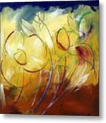 Floral Asbtract Metal Print