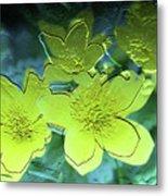 Floral Relief Metal Print