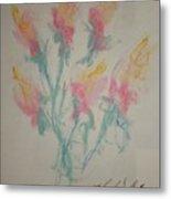 Floral Study In Pastels K Metal Print