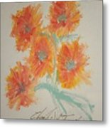 Floral Study In Pastels U Metal Print