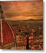 Florence Duomo At Sunset Metal Print by McDonald P. Mirabile