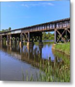 Florida East Coast Railroad Bridge Metal Print