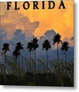 Florida Poster Metal Print