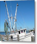 Florida Shrimper Metal Print