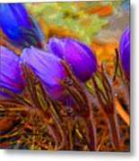 Flourescent Flowers Metal Print