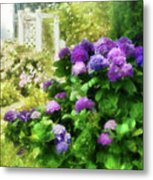 Flower - Hydrangea - Lovely Hydrangea  Metal Print by Mike Savad