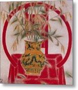 Flower In Vase-beauty  Metal Print