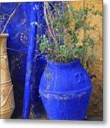 Flower Pots In Crete Metal Print
