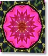 Flower Power Kaleidoscope Artifact Metal Print