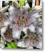 Flower Shop Lillies Metal Print