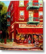 Flower Shop On The Corner Metal Print
