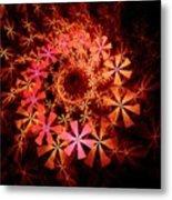 Flower Whirlpool Metal Print