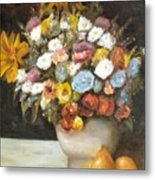 Flowers After Renoir Metal Print
