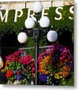 Flowers At The Empress Metal Print