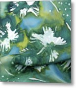 Flowers Floating On The Water Metal Print by Joanna White