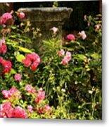 Flowers In Garden In Venice Metal Print