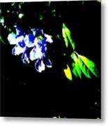 Flowers In The Dark Metal Print