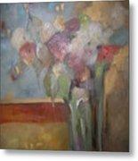 Flowers In The Rain Metal Print by M Allison