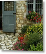 Flowers Line The Path And Adorn Metal Print