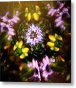 Flowers Thru Kaleidiscope Metal Print