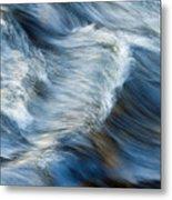Flowing River Water Metal Print