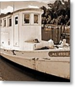 Fly Creek Work Boat Metal Print