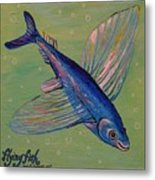 Flying Fish Metal Print