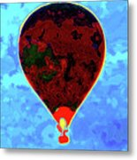 Flying High - Hot Air Balloon Metal Print