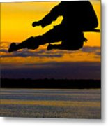 Flying Kick Over Muskegon Lake Metal Print