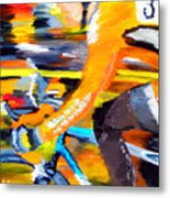 Flying Orange Metal Print