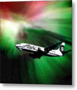 Flying Through Aurora  Metal Print