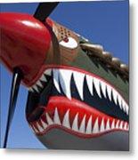 Flying Tiger Plane Metal Print