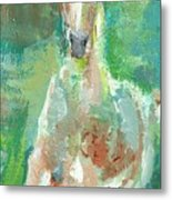 Foal  With Shades Of Green Metal Print