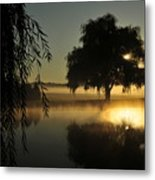 Fog Water And Sun Metal Print