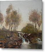 Foggy Creek Metal Print