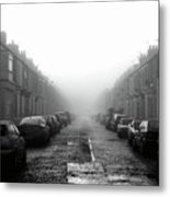 Foggy Terrace Metal Print