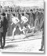 Foot Race, 1868 Metal Print