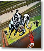 Football Derby Rams Against Nottingham Forest Red Dogs Metal Print