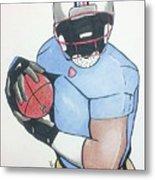 Football Player Metal Print by Loretta Nash